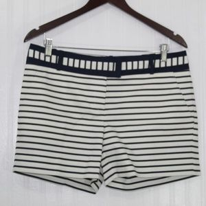 The Limited Shorts - The Limited Navy Blue and White Striped Shorts